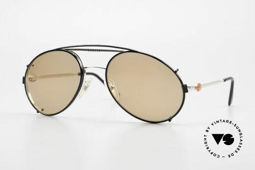 Bugatti 65996 Vintage Brille Mit Sonnenclip Details