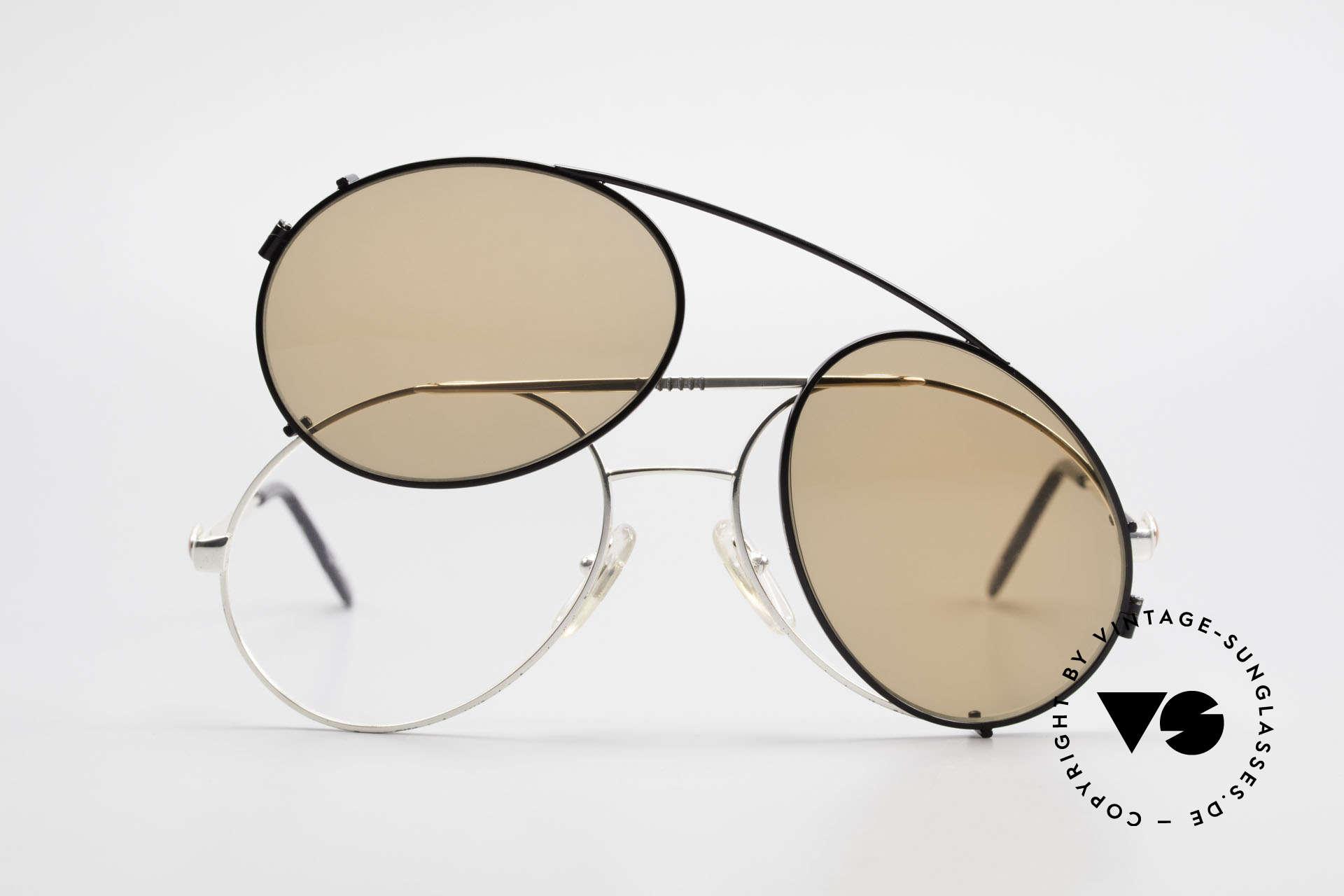 Bugatti 65996 Vintage Brille Mit Sonnenclip, ungetragen (wie alle unsere Bugatti Fassungen), Passend für Herren