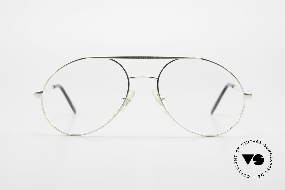 Bugatti 65996 Vintage Brille Mit Sonnenclip, KEINE Retrosonnenbrille; ein Original von 1986, Passend für Herren