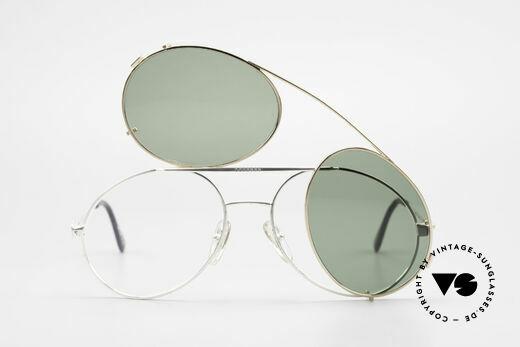 Bugatti 65996 Vintage 80er Brille Mit Clip On, ungetragen (wie alle unsere Bugatti Fassungen), Passend für Herren