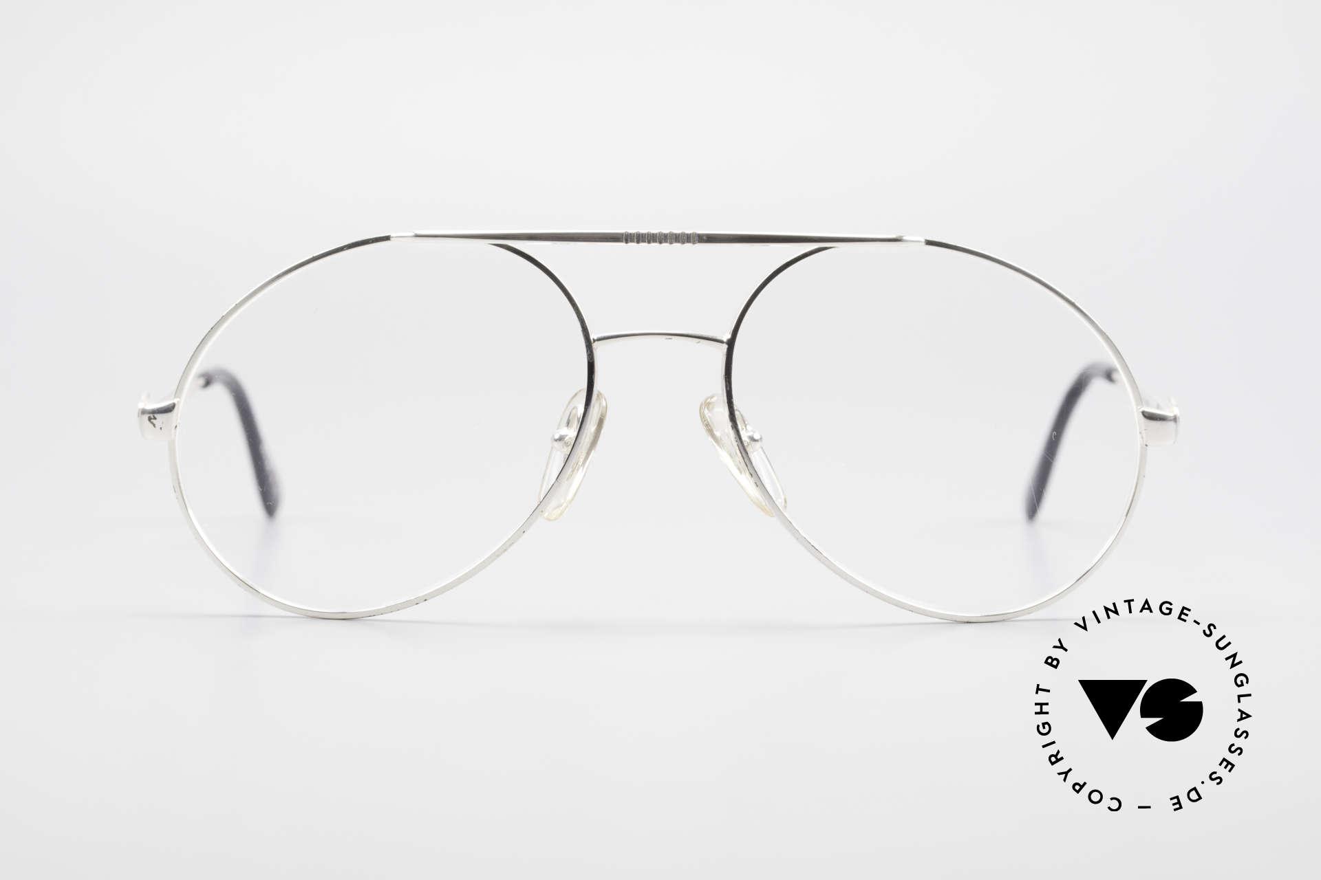 Bugatti 65996 Vintage 80er Brille Mit Clip On, KEINE Retrosonnenbrille; ein Original von 1986, Passend für Herren