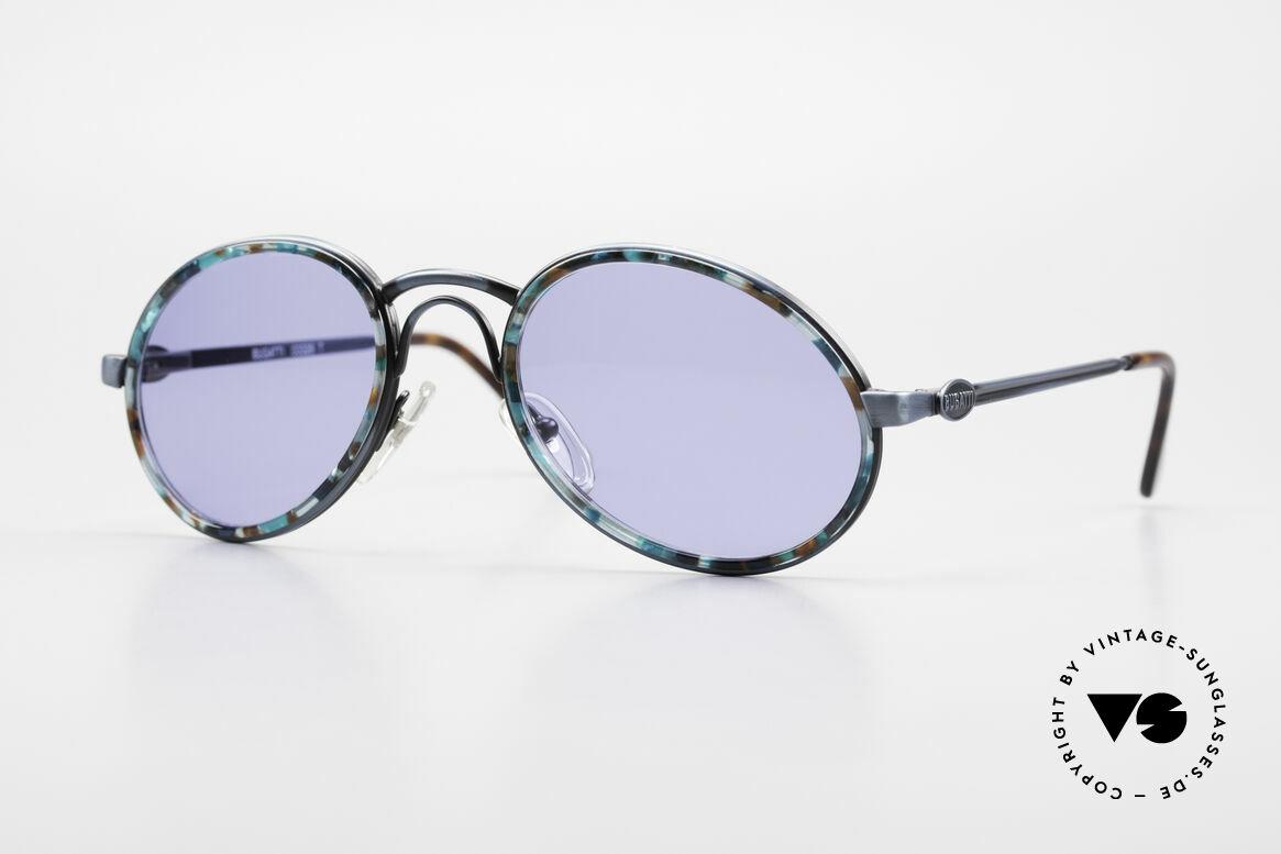 Bugatti 03328T Alte 80er Bugatti Herrenbrille, außergewöhnliche Bugatti vintage Designer-Fassung, Passend für Herren