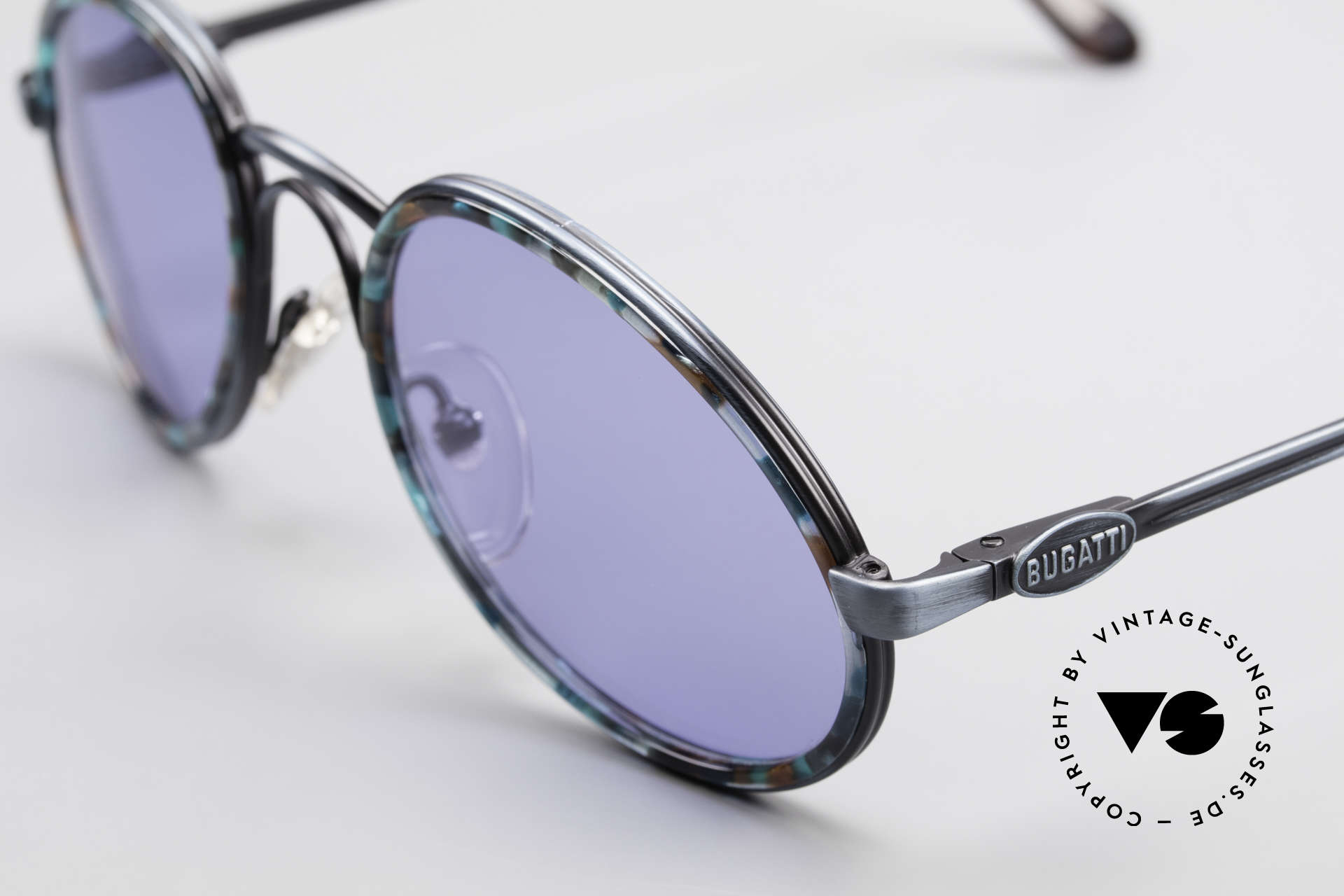 Bugatti 03328T Alte 80er Bugatti Herrenbrille, Top-Qualität, flexible Federscharniere & original Etui, Passend für Herren