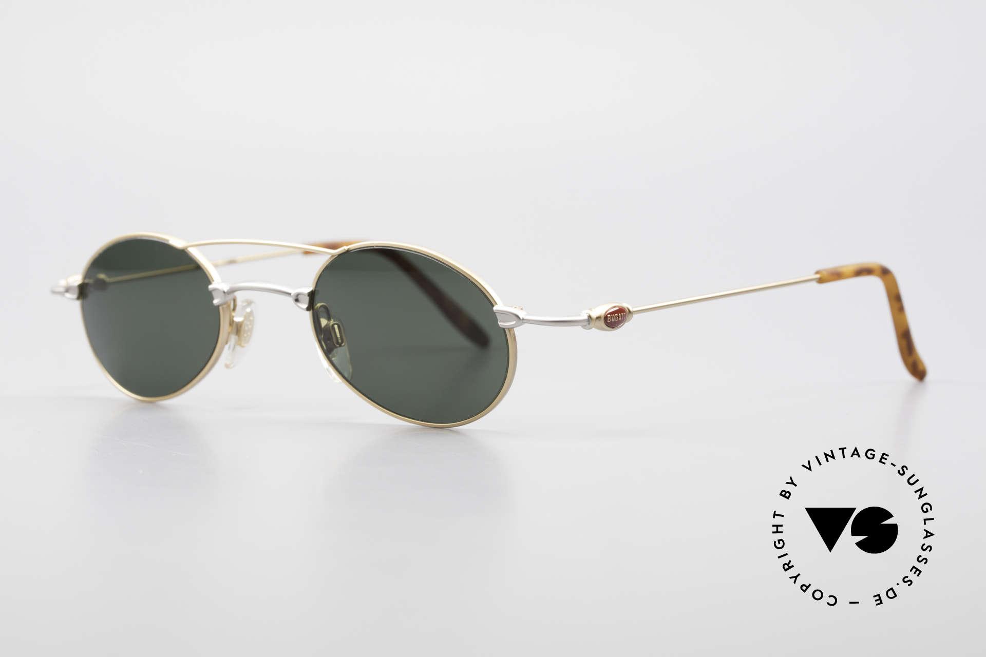 Bugatti 10868 90er Luxus Sonnenbrille Men, klassische, zeitlose Brillenform (Gentlemen's Fassung), Passend für Herren