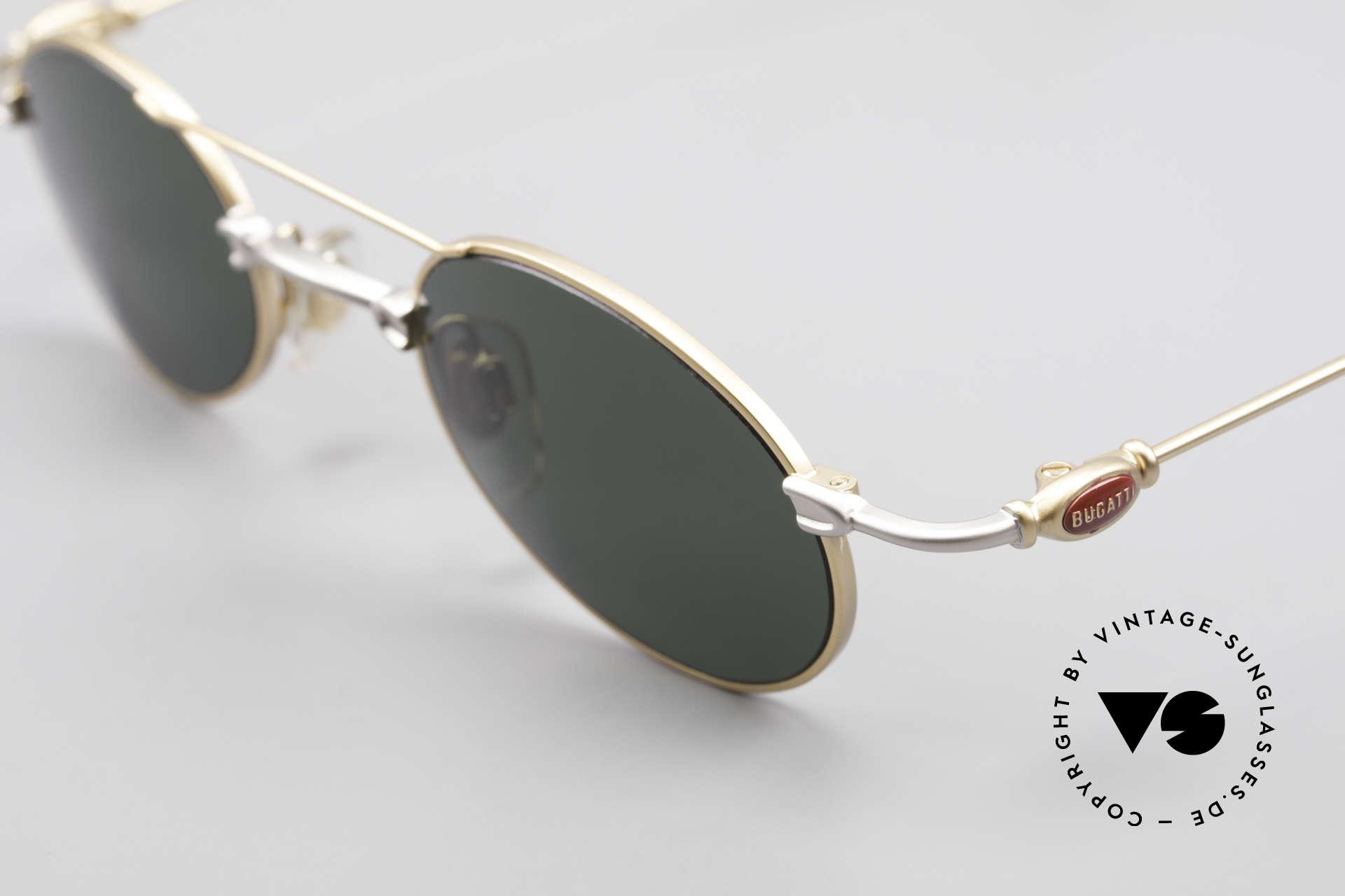 Bugatti 10868 90er Luxus Sonnenbrille Men, ungetragene Rarität (inkl. orig. Hartetui von Bugatti), Passend für Herren