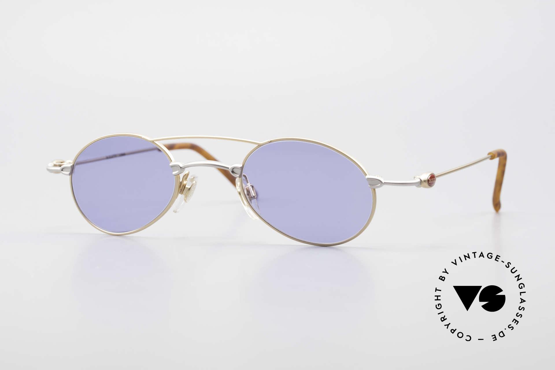 Bugatti 10868 Luxus Herren Sonnenbrille, sehr feine und leichte Designer-Fassung von BUGATTI, Passend für Herren