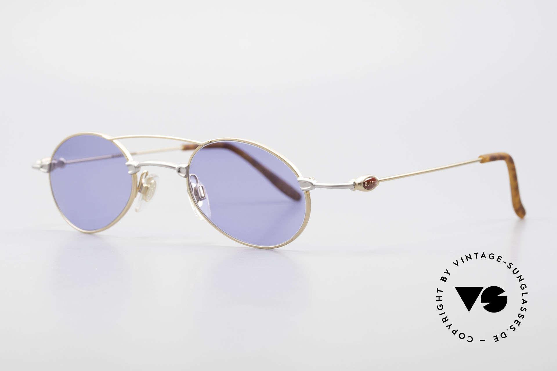 Bugatti 10868 Luxus Herren Sonnenbrille, klassische, zeitlose Brillenform (Gentlemen's Fassung), Passend für Herren