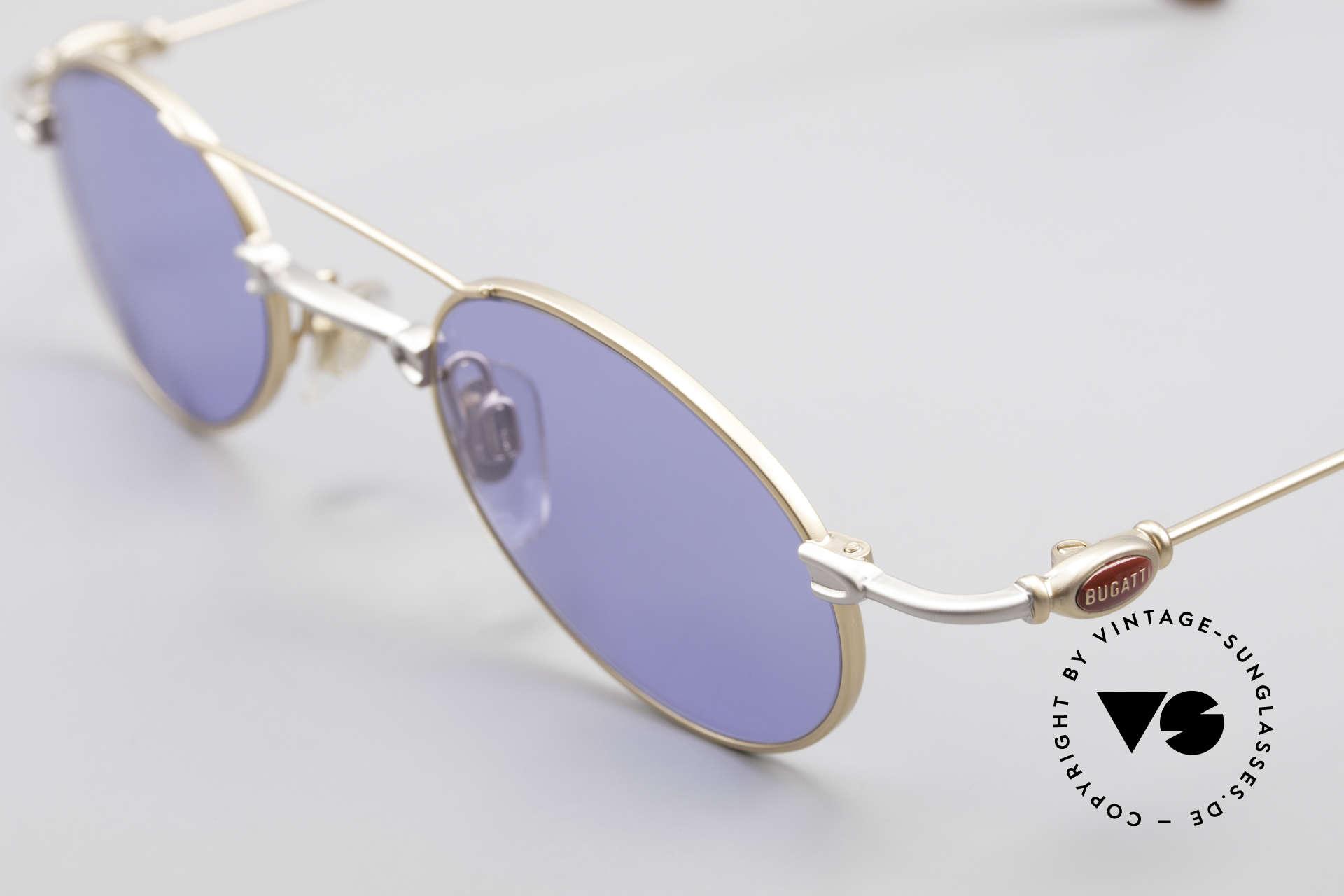 Bugatti 10868 Luxus Herren Sonnenbrille, ungetragene Rarität (inkl. orig. Hartetui von Bugatti), Passend für Herren