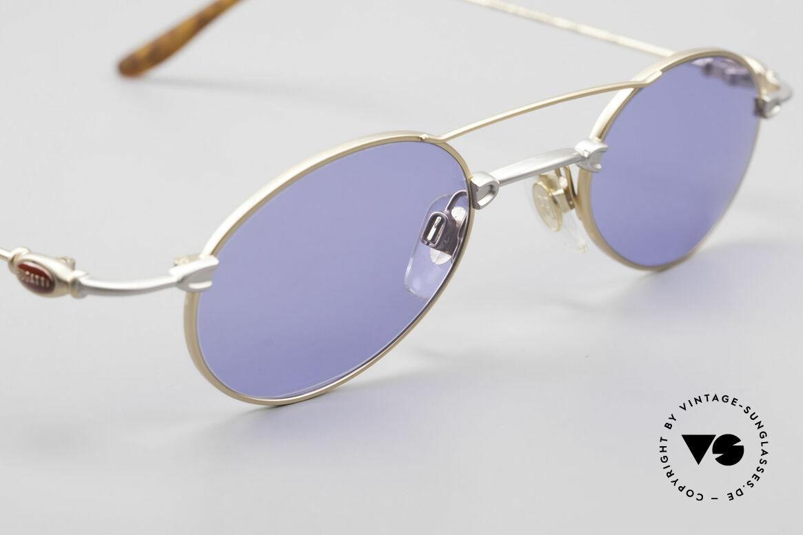 Bugatti 10868 Luxus Herren Sonnenbrille, KEINE Retrobrille; ein ORIGINAL aus den späten 90ern!, Passend für Herren