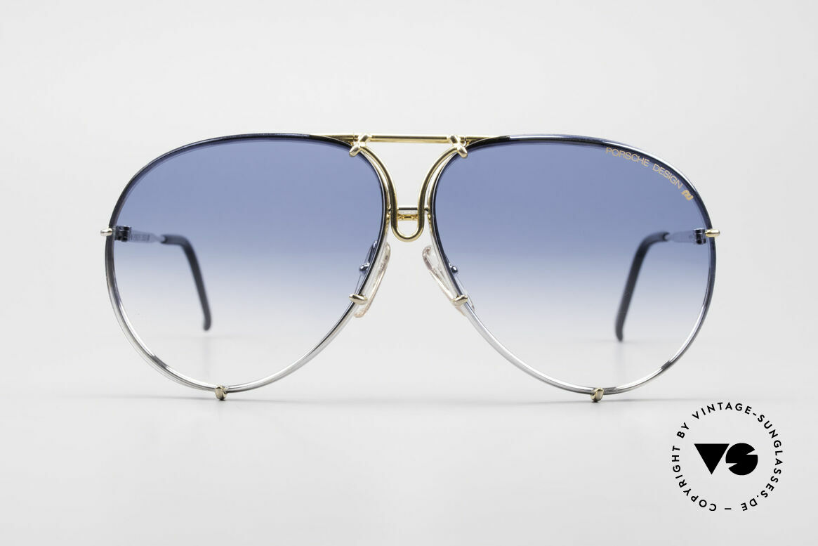 Porsche 5623 Unikat Brille 6Fach Verlauf, zudem mit Wechselgläsern in blau-Verlauf; RARITÄT, Passend für Herren und Damen