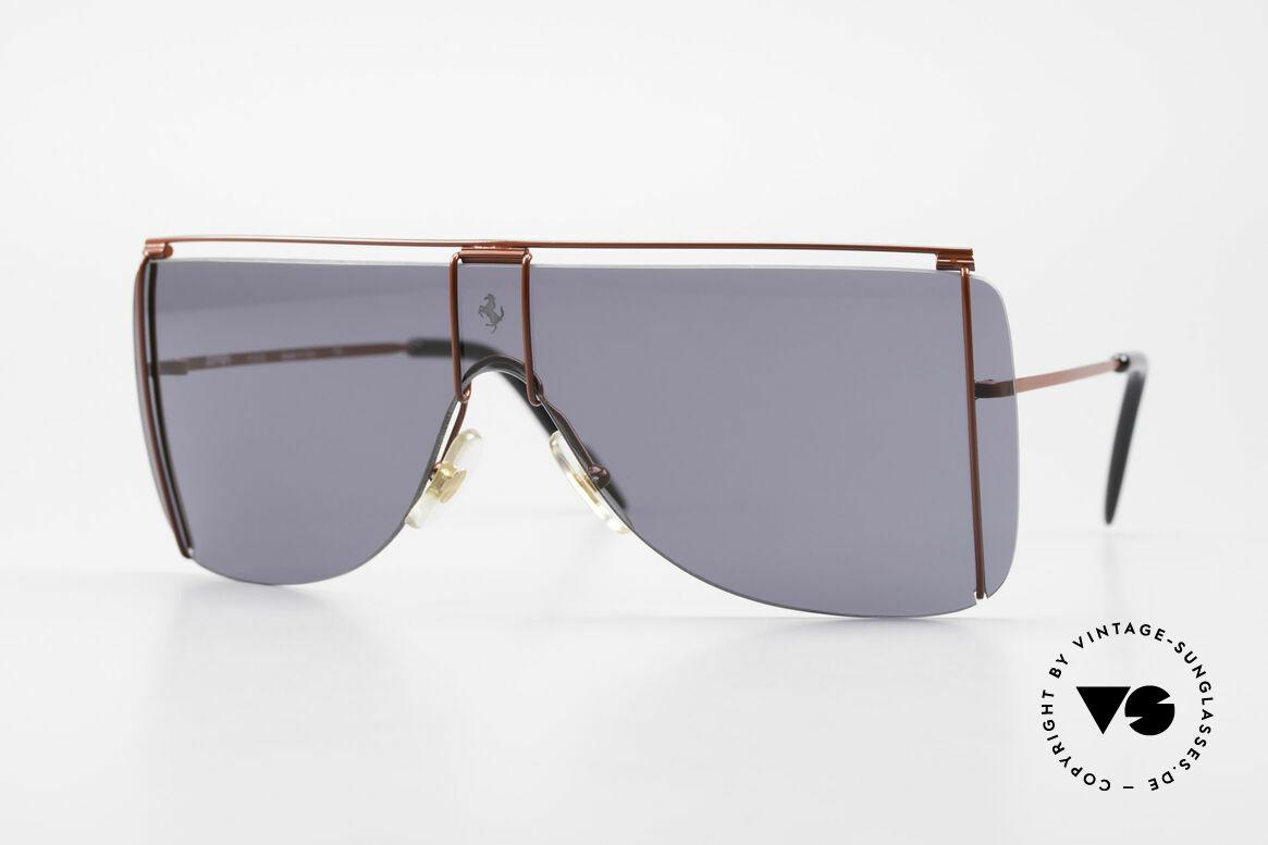 Ferrari F20/S Kylie Jenner Luxus Sonnenbrille, 90er Luxus Sport-Sonnenbrille von Ferrari, Passend für Herren und Damen