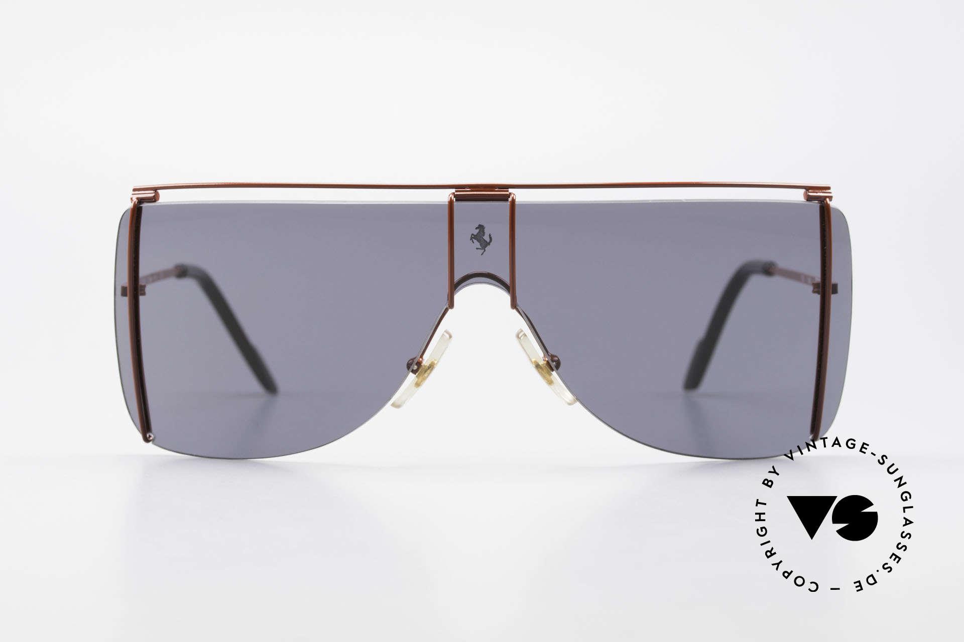Ferrari F20/S Kylie Jenner Luxus Sonnenbrille, Panorama-Scheibe für ideale 'Rundumsicht', Passend für Herren und Damen