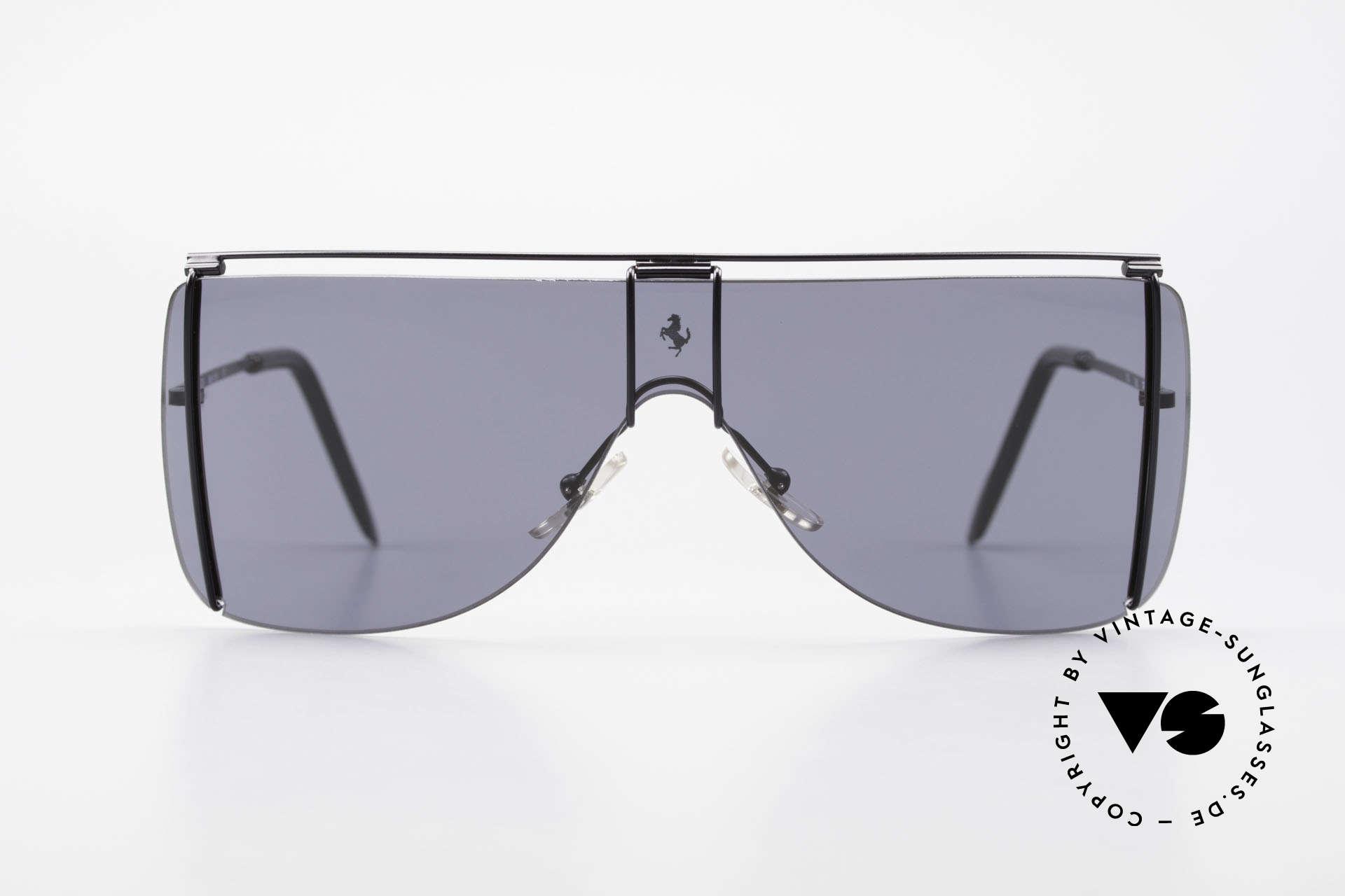 Ferrari F20/S Luxus Sonnenbrille Kylie Jenner, Panorama-Scheibe für ideale 'Rundumsicht', Passend für Herren und Damen