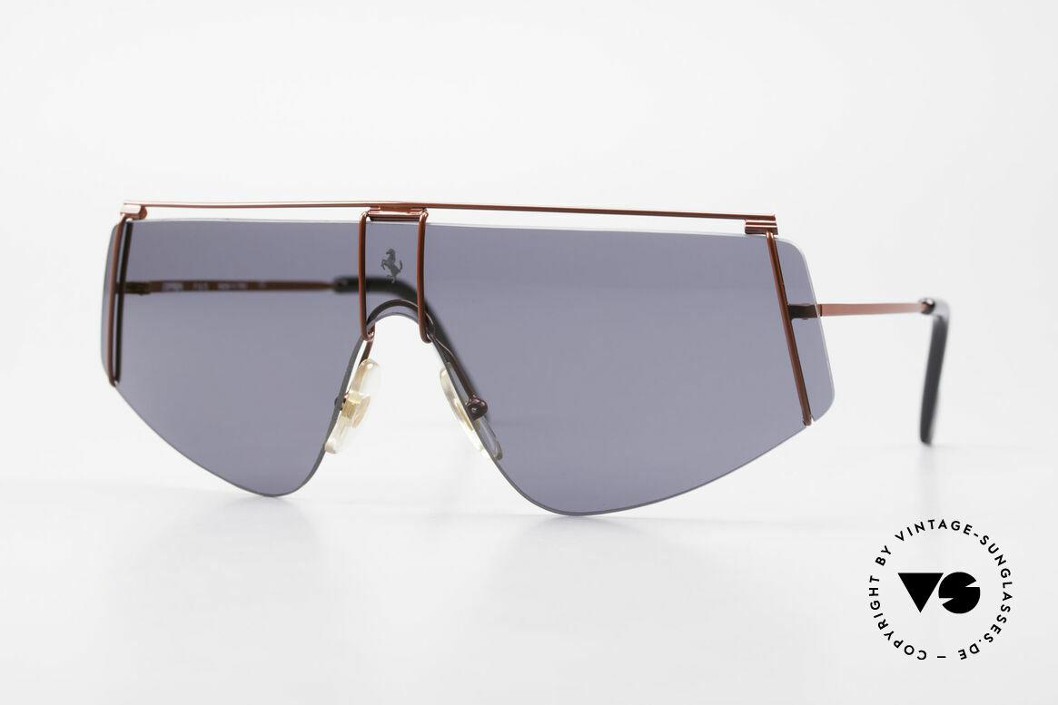 Ferrari F15/S 90er Luxus Sport Sonnenbrille, 90er Luxus Sport-Sonnenbrille von Ferrari, Passend für Herren und Damen