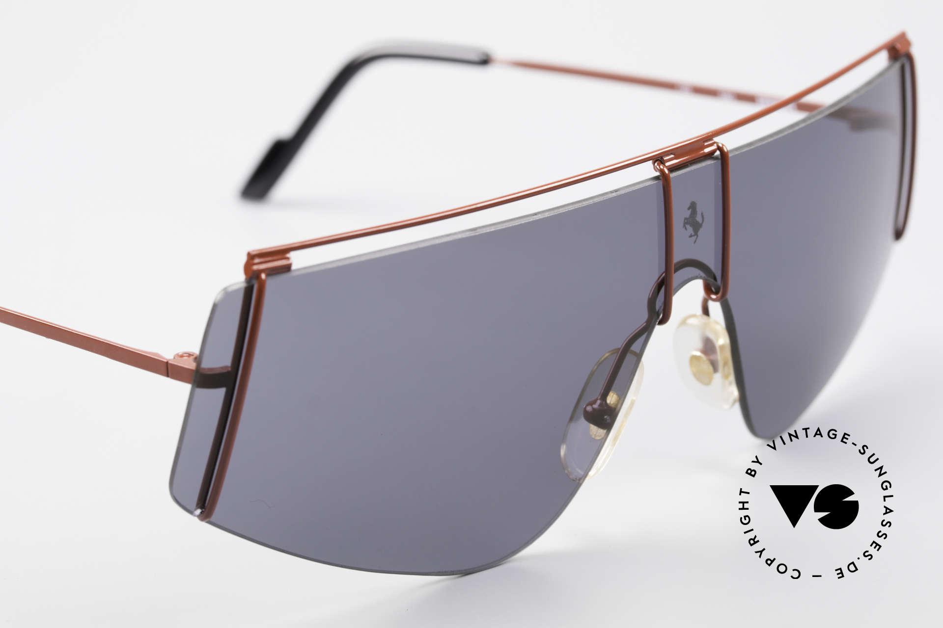 Ferrari F15/S 90er Luxus Sport Sonnenbrille, ungetragen (wie alle unsere Ferrari Brillen), Passend für Herren und Damen