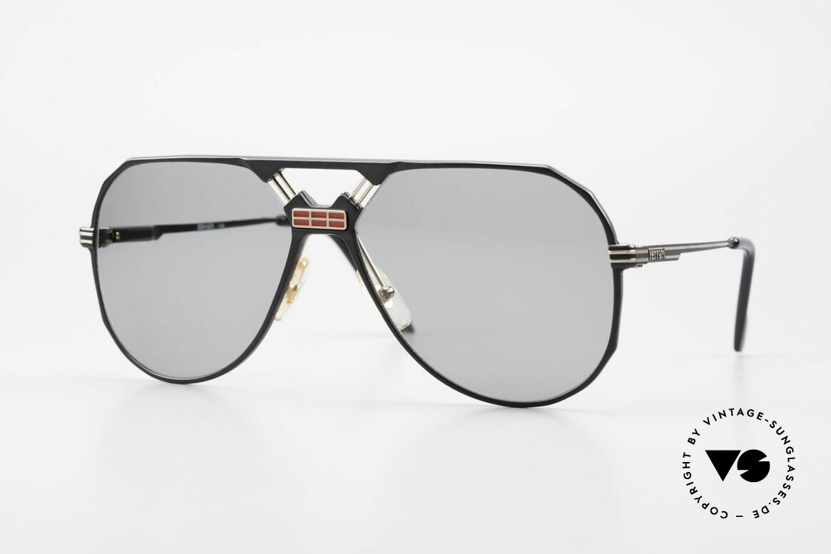 Ferrari F23/S Sport Aviator Sonnenbrille, sehr maskuline 90er Pilotensonnenbrille von Ferrari, Passend für Herren