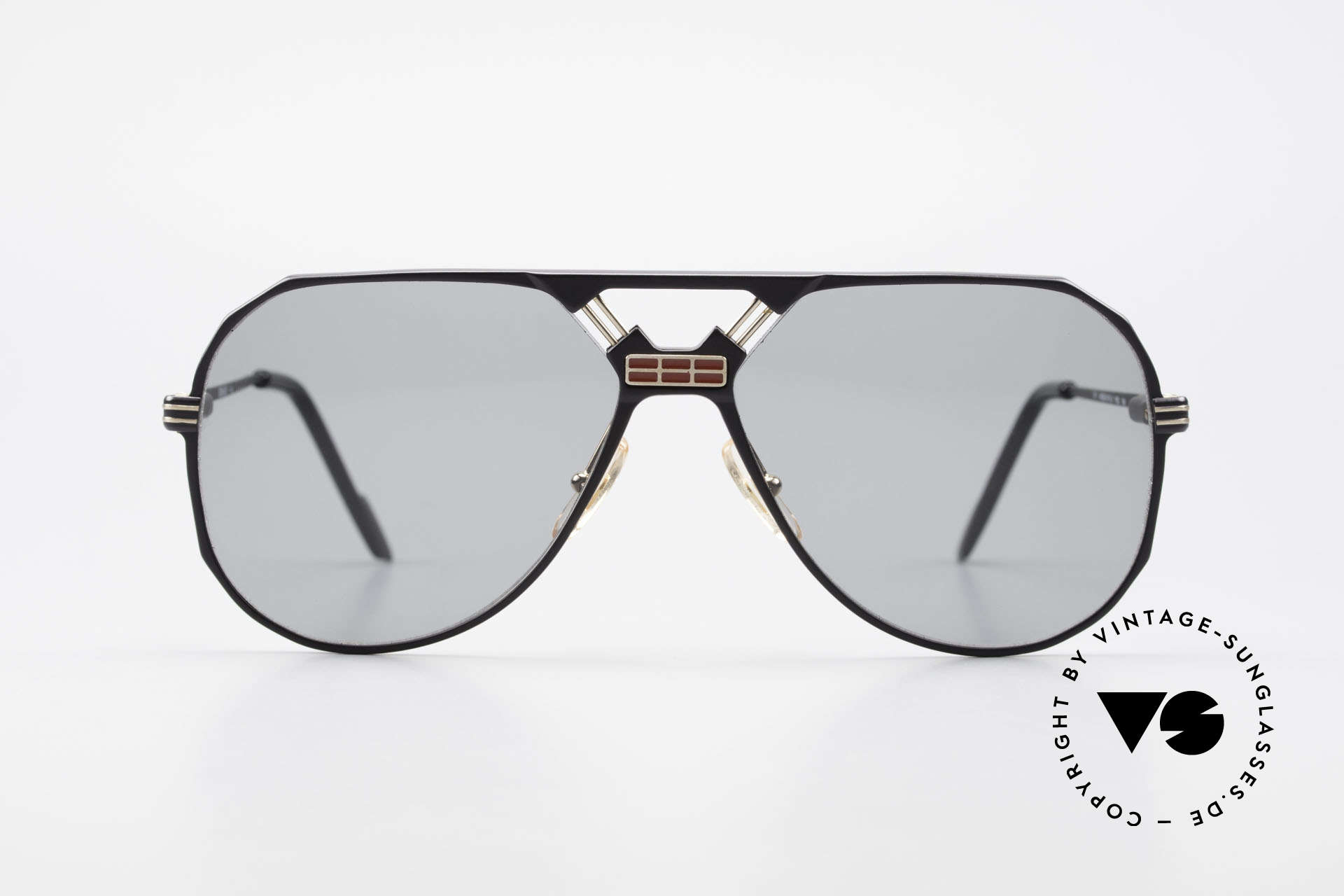 Ferrari F23/S Sport Aviator Sonnenbrille, ideale Passform durch Federscharniere; Top-Qualität, Passend für Herren