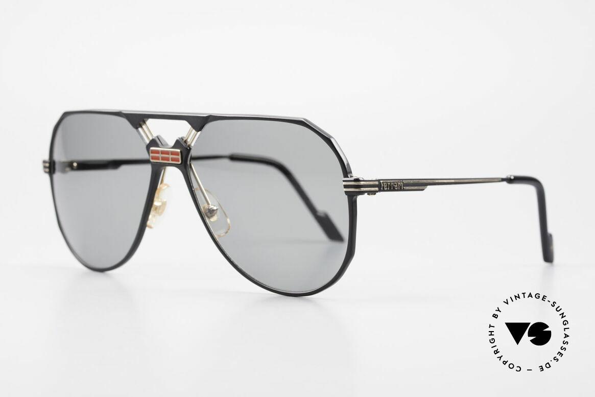 Ferrari F23/S Sport Aviator Sonnenbrille, sehr edles 'Aviator'-Design (Hybrid aus Sport & Chic), Passend für Herren