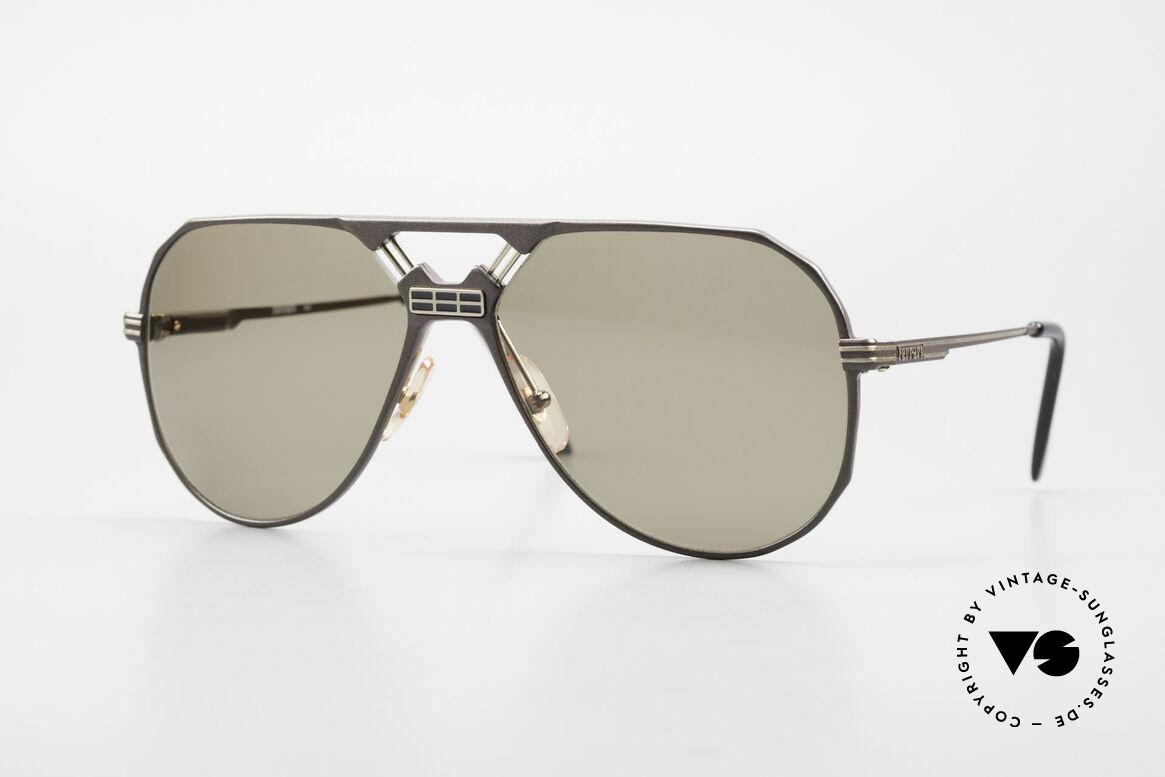 Ferrari F23/S Aviator Sport Sonnenbrille, sehr maskuline 90er Pilotensonnenbrille von Ferrari, Passend für Herren