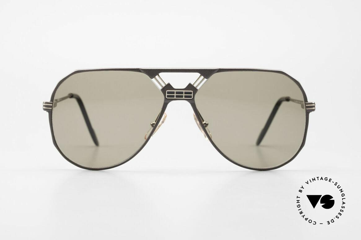 Ferrari F23/S Aviator Sport Sonnenbrille, ideale Passform durch Federscharniere; Top-Qualität, Passend für Herren