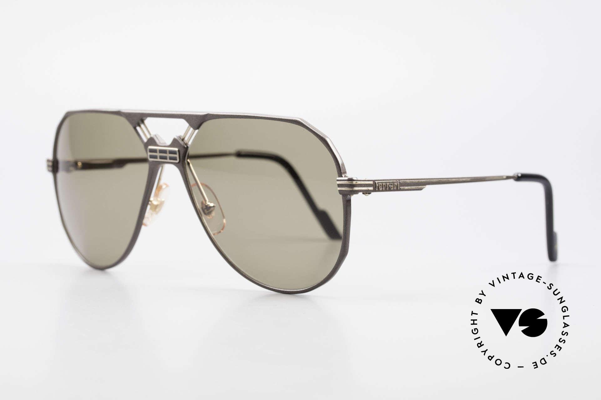 Ferrari F23/S Aviator Sport Sonnenbrille, sehr edles 'Aviator'-Design (Hybrid aus Sport & Chic), Passend für Herren