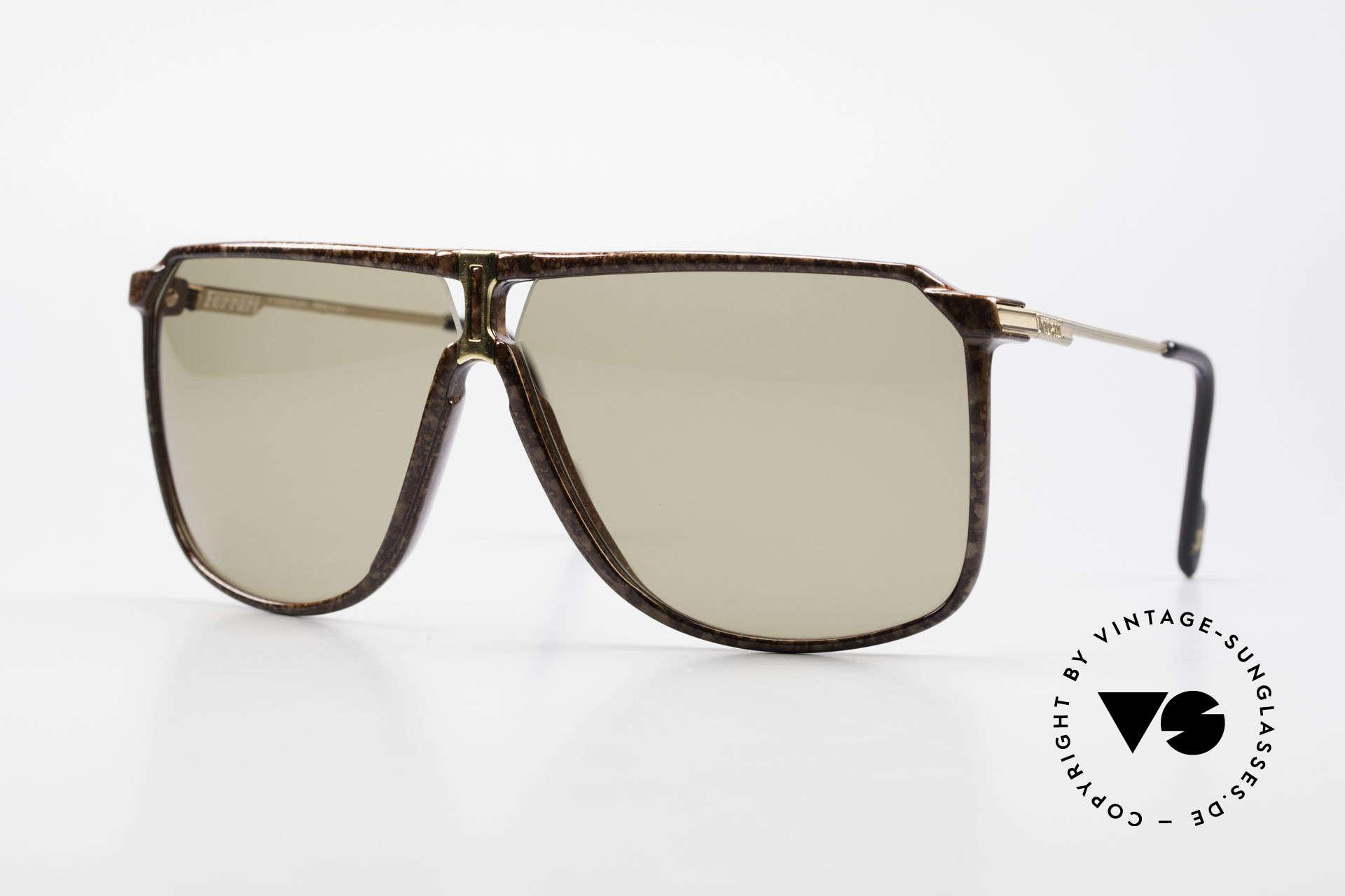 Ferrari F37/S 90er XL Sonnenbrille Karbon, luxuriöse Ferrari XL-Sonnenbrille aus den 1990ern, Passend für Herren