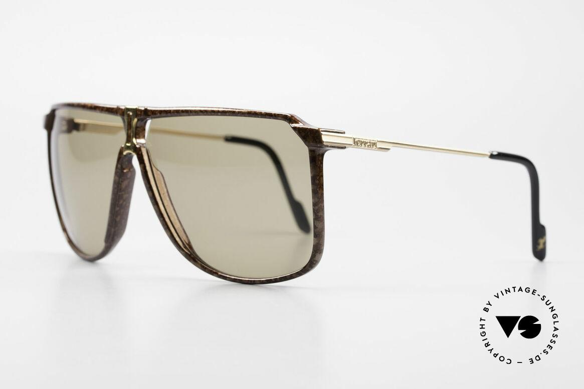 Ferrari F37/S 90er XL Sonnenbrille Karbon, Karbon-Fassung mit 56mm Höhe = XL Sonnenbrille, Passend für Herren