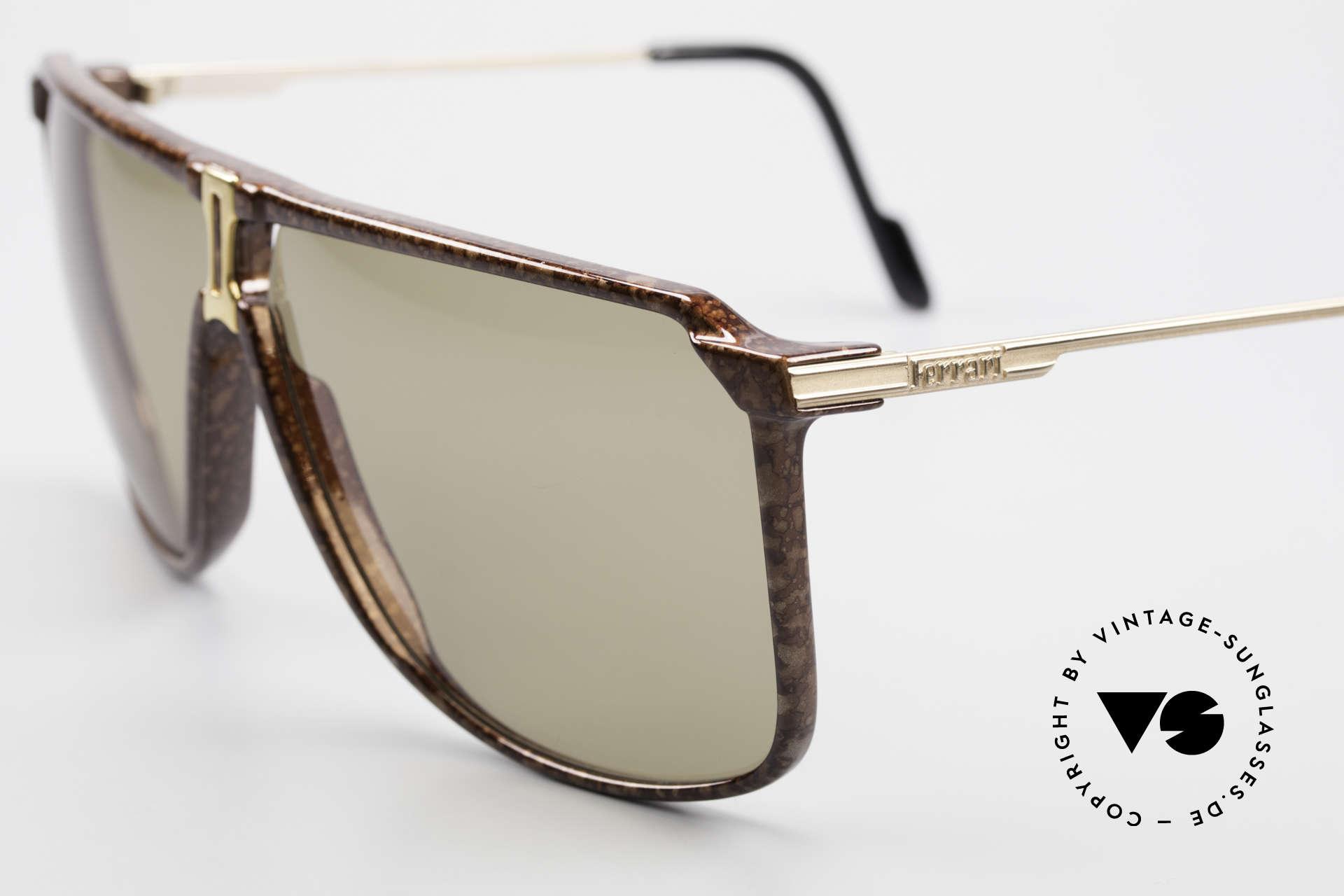 Ferrari F37/S 90er XL Sonnenbrille Karbon, begehrte vintage Brille d. FERRARI FORMULA Serie, Passend für Herren