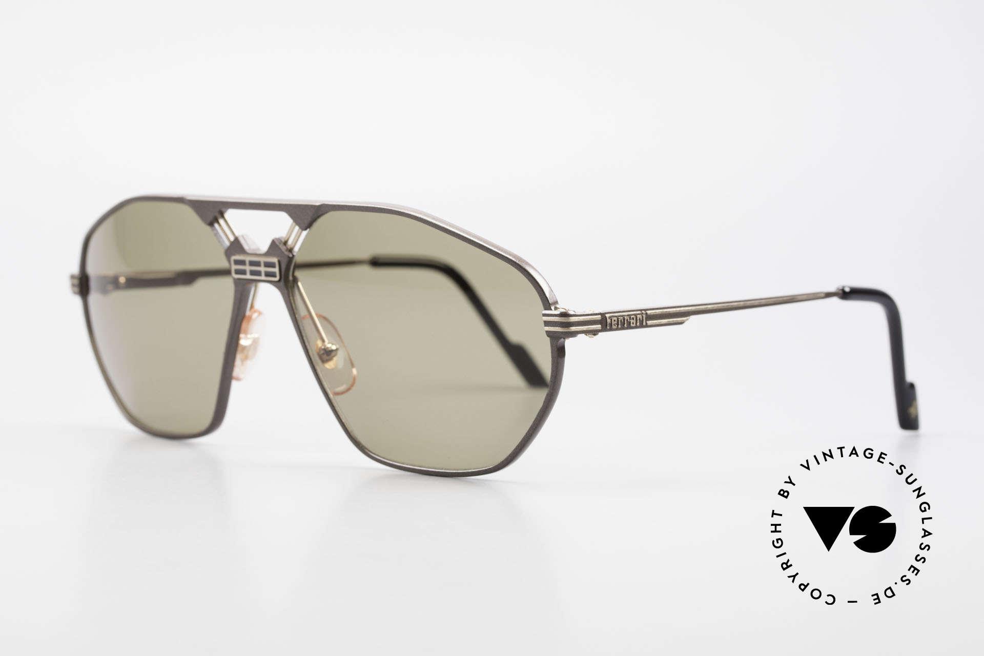 """Ferrari F22/S XL Luxus Sonnenbrille Herren, modifizierte """"Aviator-Brille"""" mit Federscharnieren, Passend für Herren"""