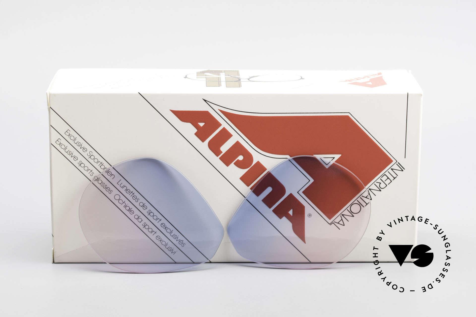 Alpina M1 Lenses Neue Gläser in Baby-Blau Pink, neue CR39 UV400 Kunststoff-Gläser (100% UV Schutz), Passend für Herren und Damen