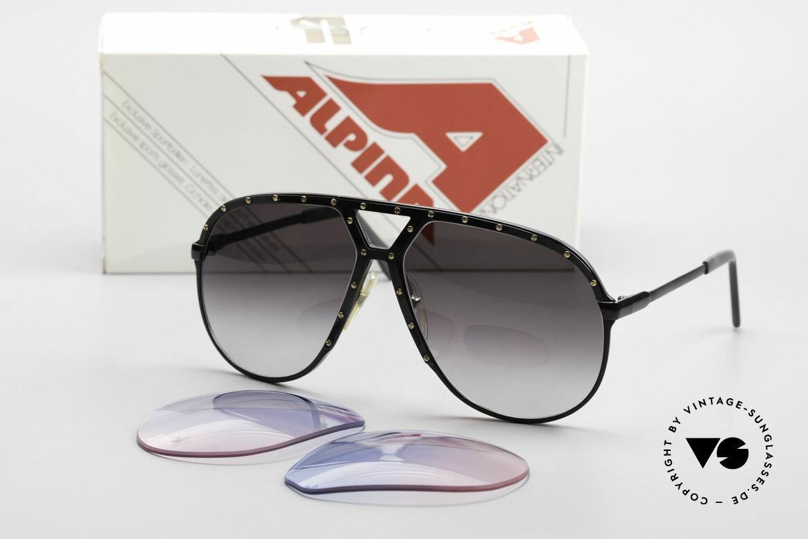 Alpina M1 Lenses Neue Gläser in Baby-Blau Pink, origineller Farbverlauf von (Baby)-Himmelblau zu Pink, Passend für Herren und Damen