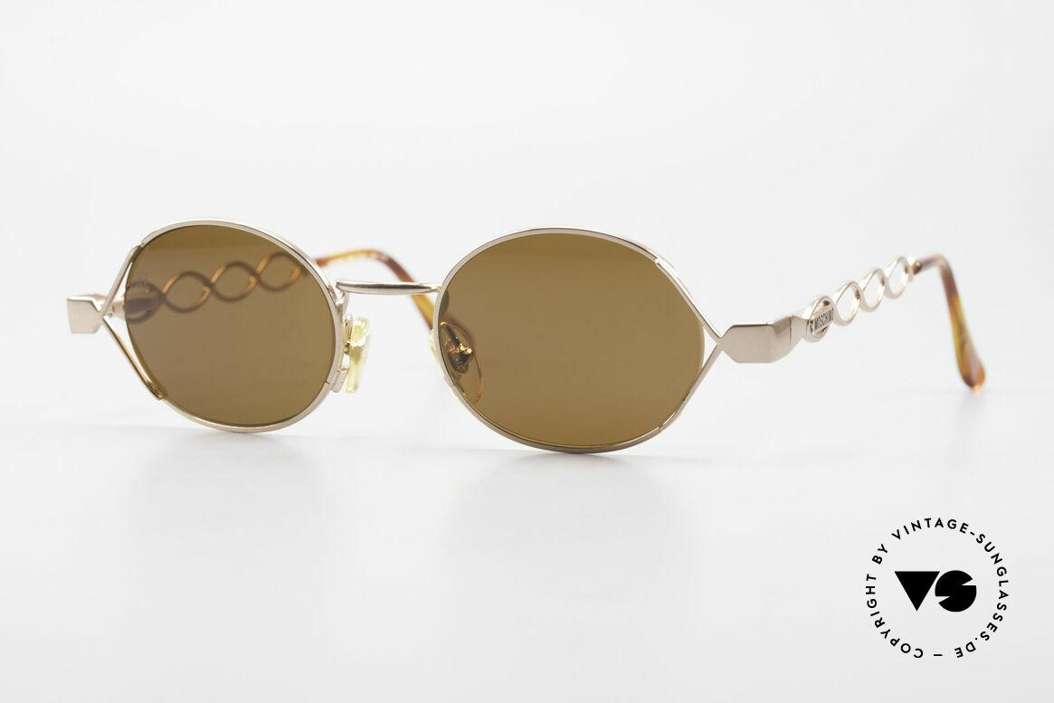 Moschino MM344 Designer Damen Sonnenbrille, bezaubernde vintage Sonnenbrille von MOSCHINO, Passend für Damen