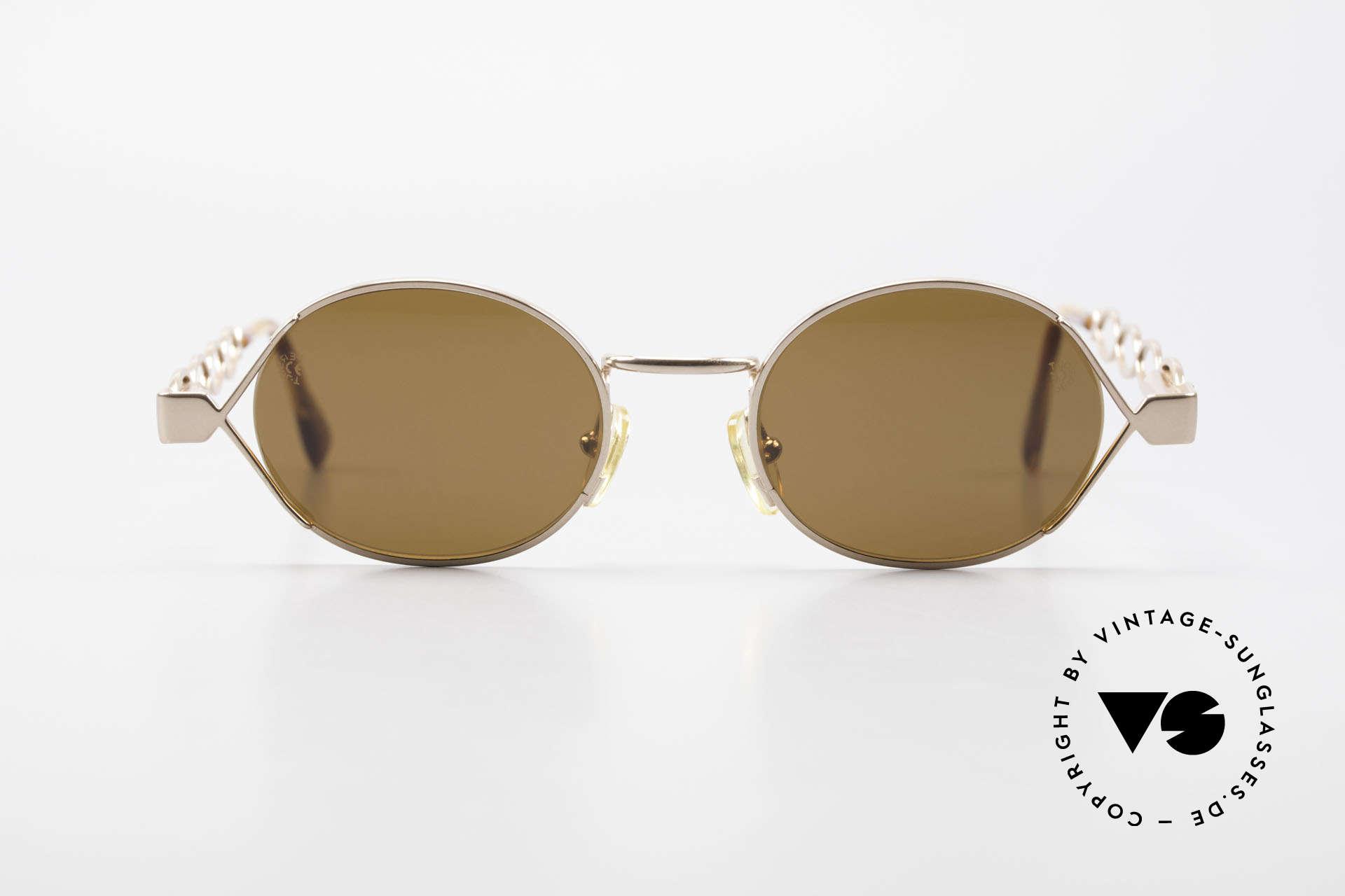 Moschino MM344 Designer Damen Sonnenbrille, kreative Ausführung der klassischen runden Form, Passend für Damen