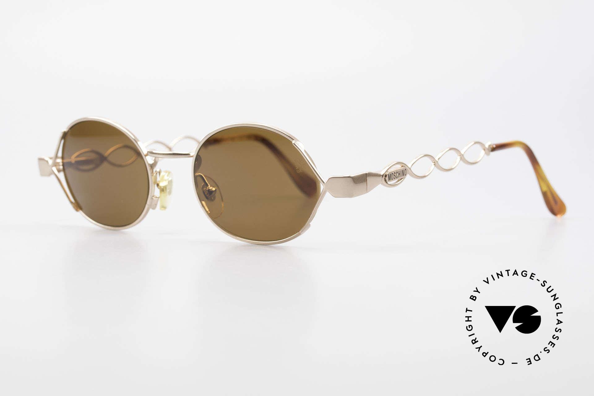 Moschino MM344 Designer Damen Sonnenbrille, Moschino-Kreationen von Persol produziert (90er), Passend für Damen