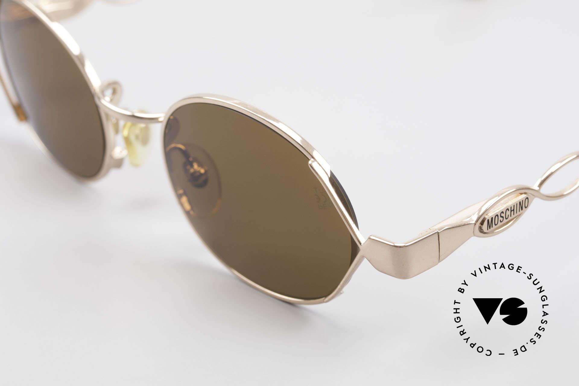 Moschino MM344 Designer Damen Sonnenbrille, daher 1A-Qualität: Federgelenke & Kupferlegierung, Passend für Damen