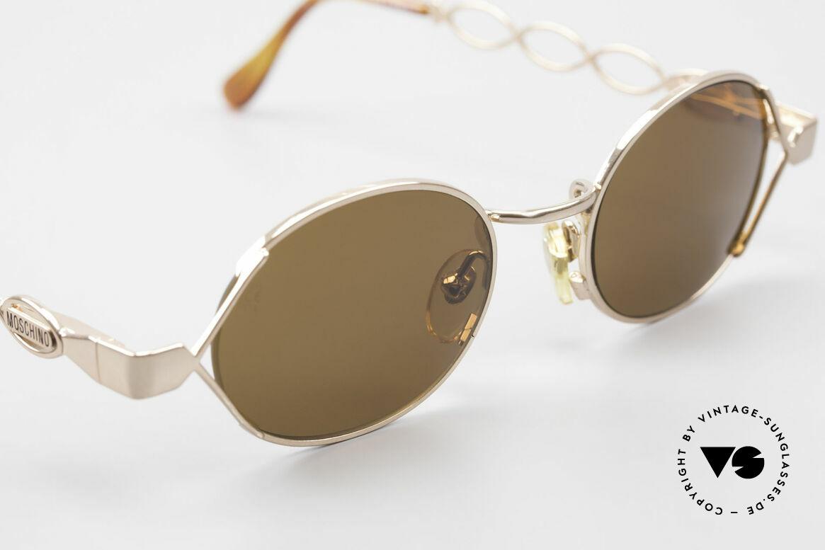 Moschino MM344 Designer Damen Sonnenbrille, ungetragen (wie alle unsere 90er Moschino Brillen), Passend für Damen