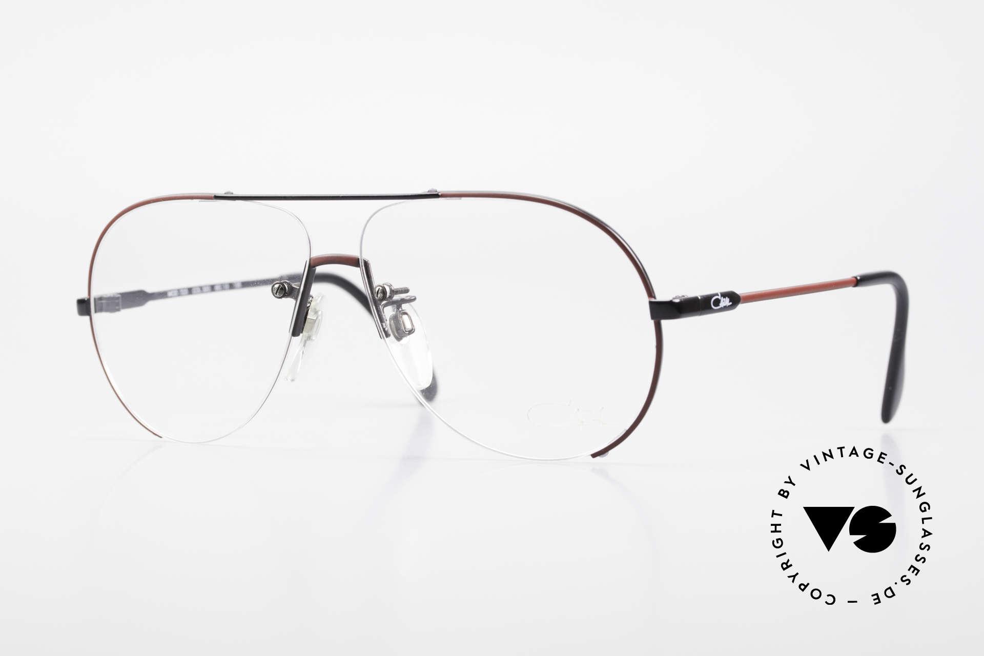 Cazal 723 Randlose 80er Pilotenbrille, seltene vintage Cazal Herrenfassung von ca. 1986, Passend für Herren