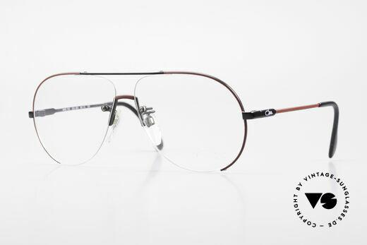 Cazal 723 Randlose 80er Pilotenbrille Details