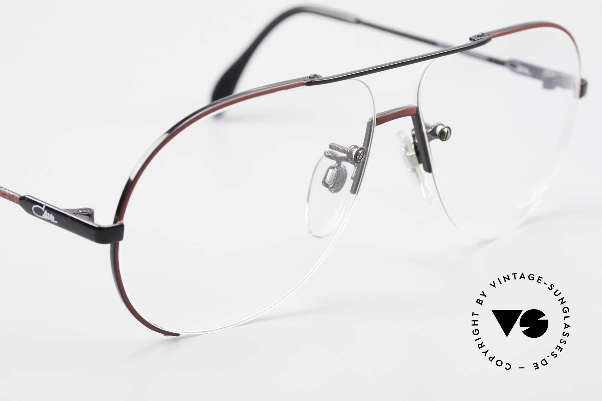 Cazal 723 Randlose 80er Pilotenbrille, ungetragen (wie alle unsere vintage 80er Brillen), Passend für Herren