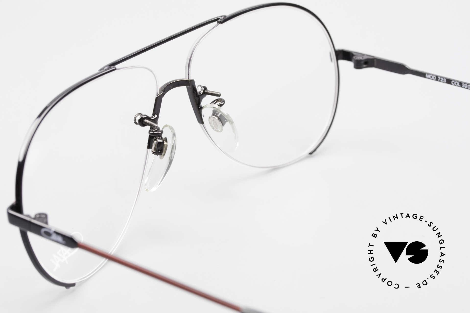 Cazal 723 Randlose 80er Pilotenbrille, Fassung ist für optische Gläser gemacht; L 60/13, Passend für Herren