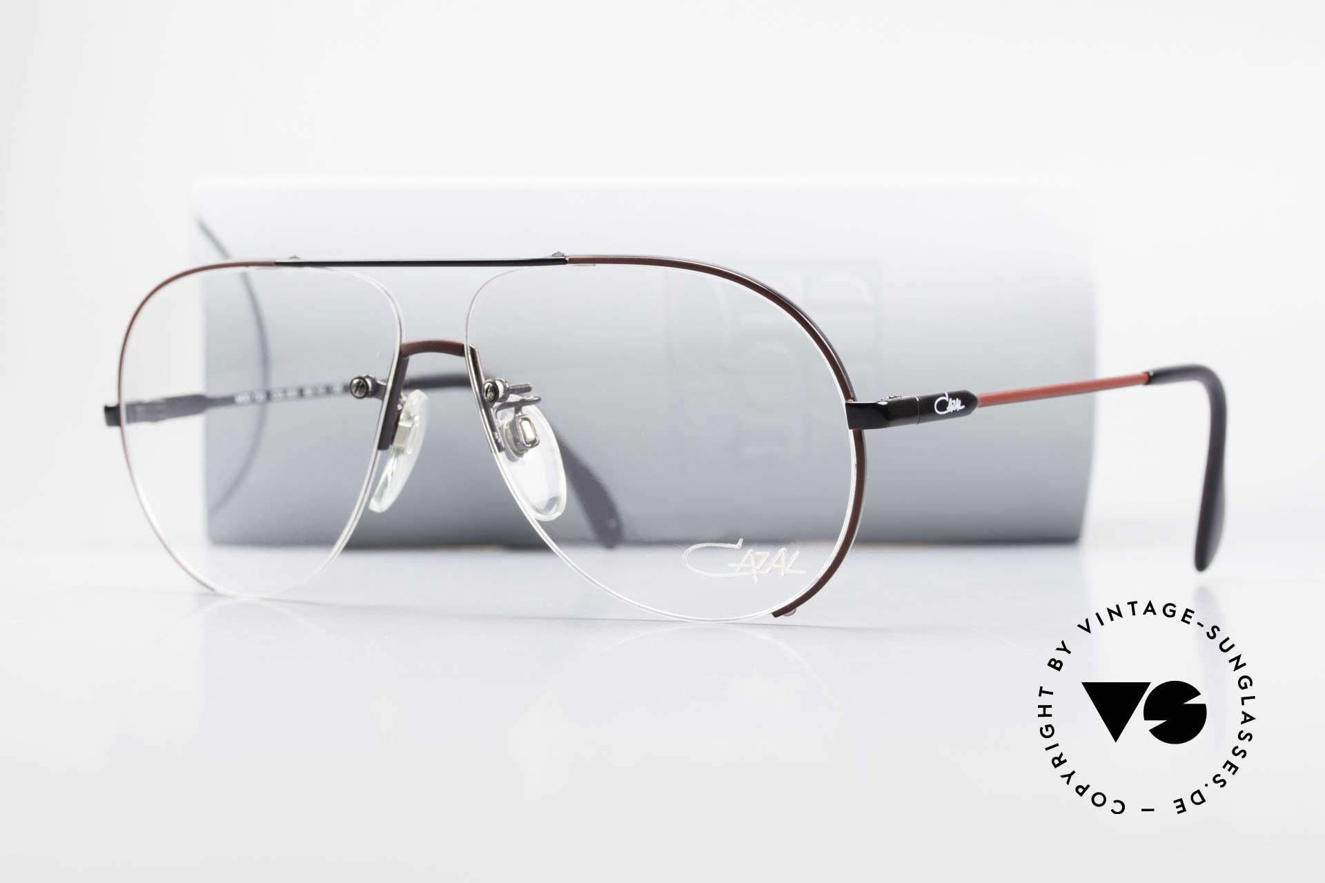 Cazal 723 Randlose 80er Pilotenbrille, Größe: large, Passend für Herren