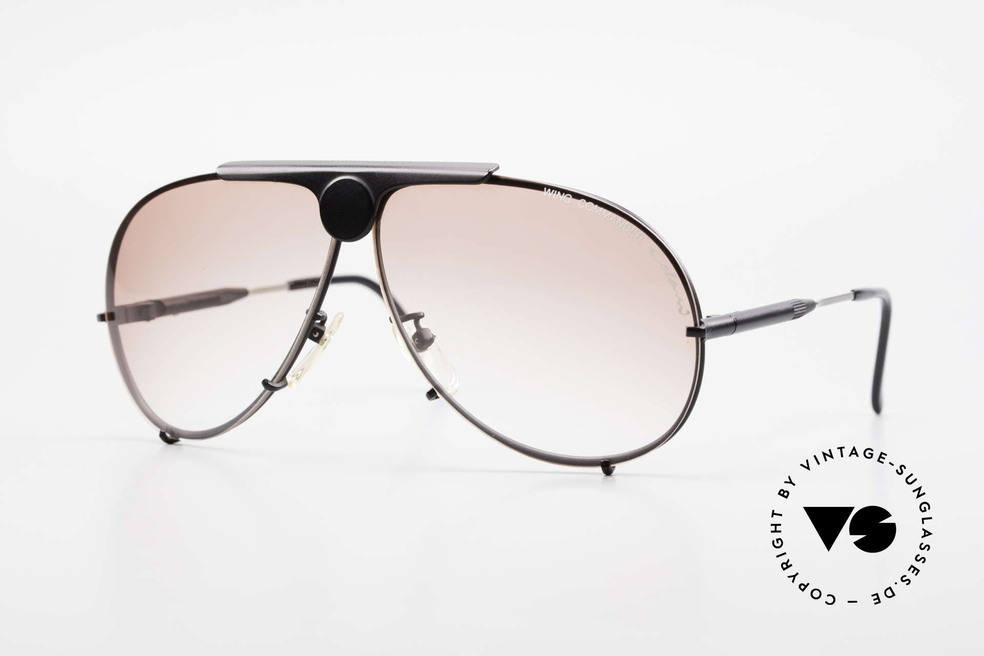Colani 10-401 Wing Commander Optos Design, sehr auffällige Luigi COLANI Sonnenbrille der 80er, Passend für Herren