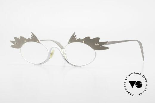 Theo Belgium Karo 90er Vintage Brille Für Damen Details