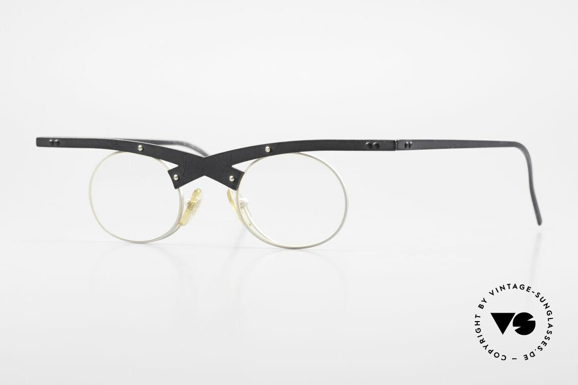 Theo Belgium Hio 11S Verrückte 90er Vintage Brille, verrückte vintage Brille von THEO Belgium der 90er, Passend für Herren und Damen