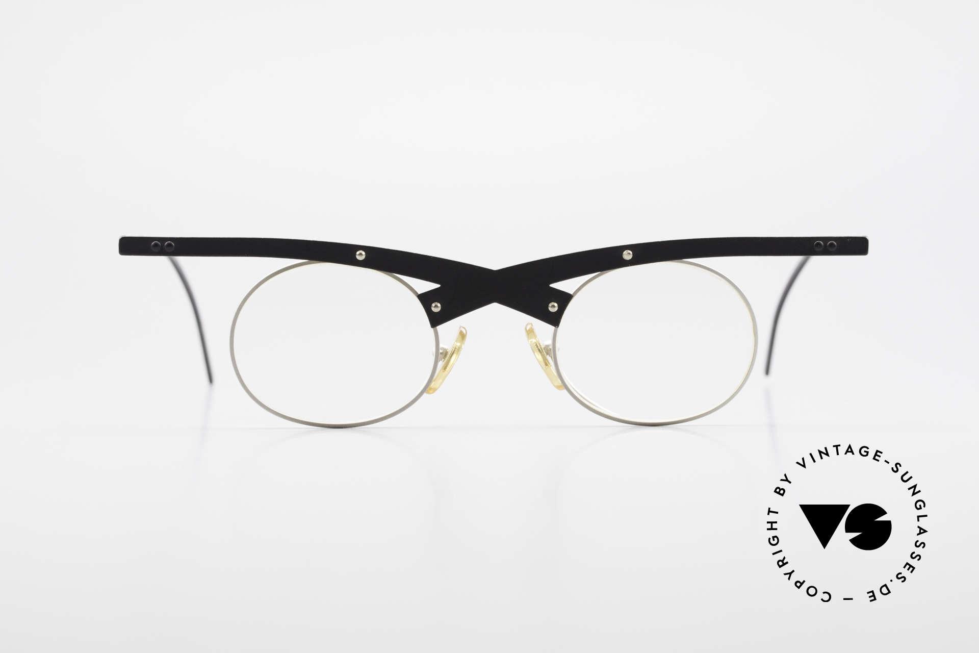 Theo Belgium Hio 11S Verrückte 90er Vintage Brille, 'Theo' bekannt als Gegenpol zum üblich 'Mainstream', Passend für Herren und Damen
