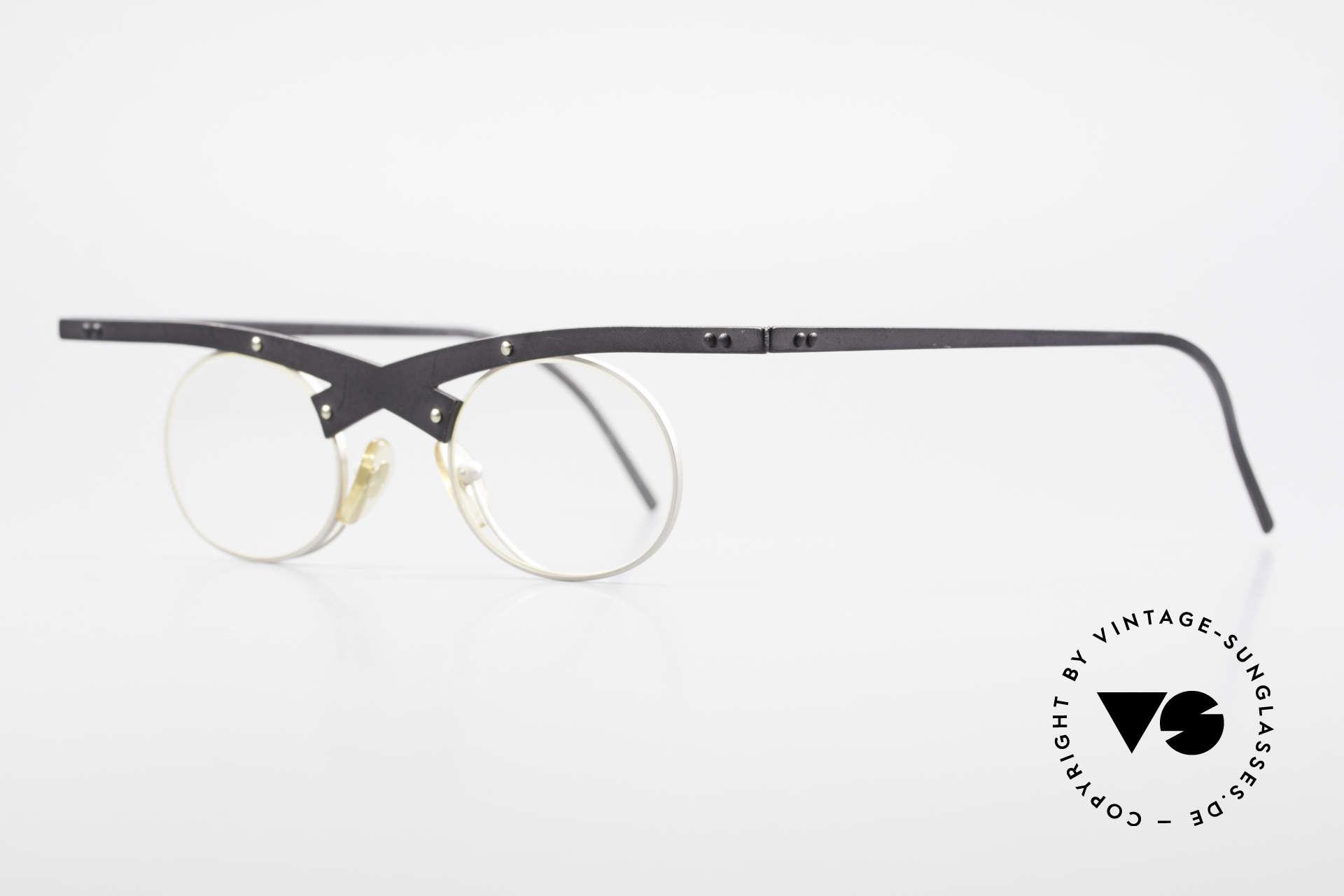 Theo Belgium Hio 11S Verrückte 90er Vintage Brille, gemacht für die 'Avantgarde' und für Individualisten, Passend für Herren und Damen