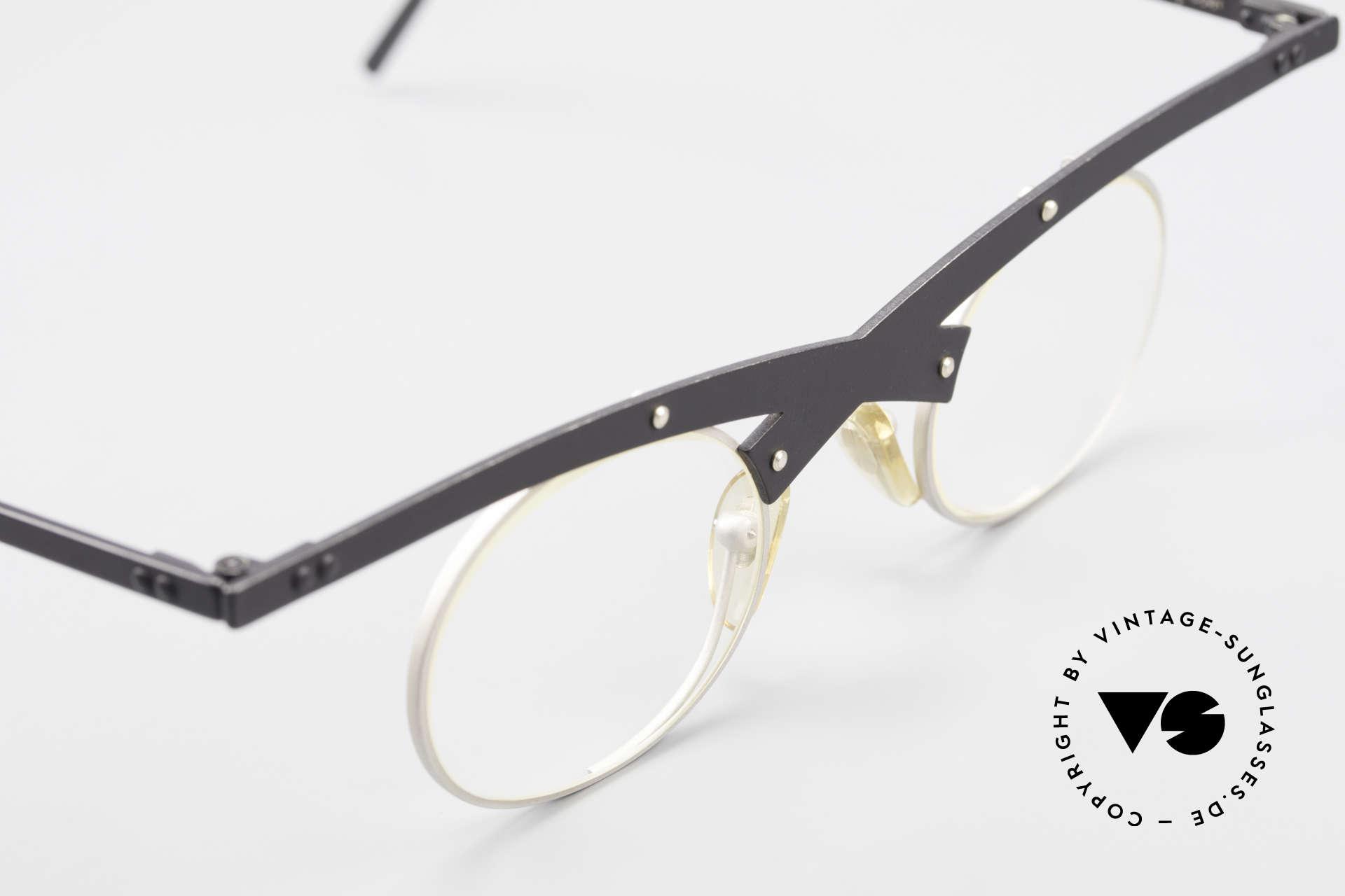 Theo Belgium Hio 11S Verrückte 90er Vintage Brille, ungetragenes Theo-Exemplar für die, die sich trauen, Passend für Herren und Damen