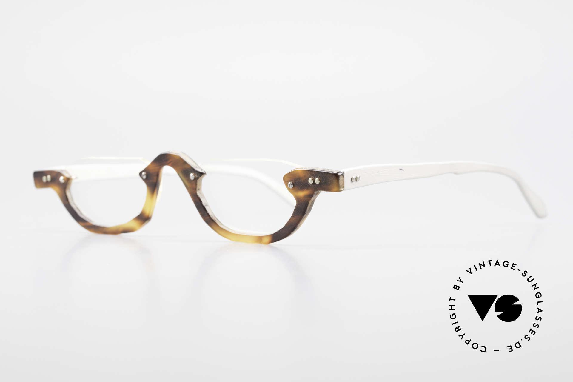 Theo Belgium Eye-Witness AE17 Crazy Vintage Lesebrille Titan, damals gemacht für die 'Avantgarde' und Individualisten, Passend für Herren und Damen