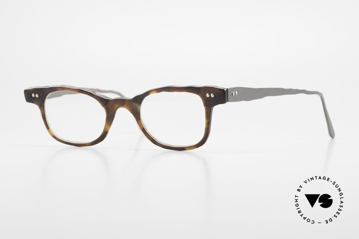 Theo Belgium Eye-Witness Avantgarde Titan Brille 90er, Theo Belgium: die eigenwilligste Brillenmarke, weltweit, Passend für Herren und Damen