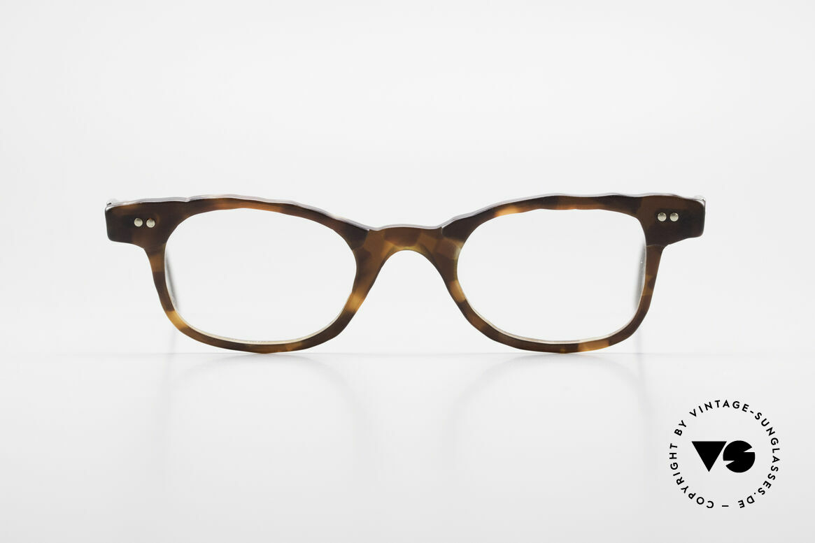 Theo Belgium Eye-Witness Avantgarde Titan Brille 90er, 1989 gegründet als GEGENPOL zum üblich 'Mainstream', Passend für Herren und Damen